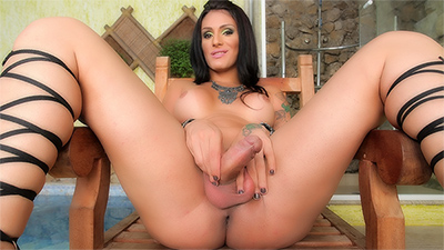 Debora Mastronelly Playing With Her Hard Cock